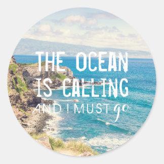 The Ocean is Calling - Maui Coast | Sticker