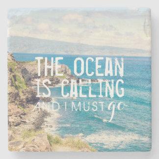 The Ocean is Calling - Maui Coast   Stone Coaster
