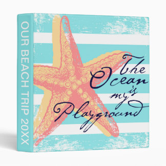 The Ocean is my Playground 3 Ring Binder