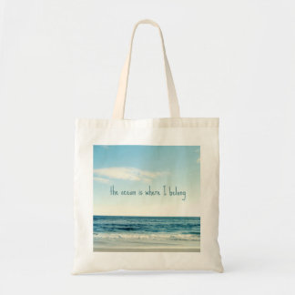 Small Bag with Ocean Beach Quote