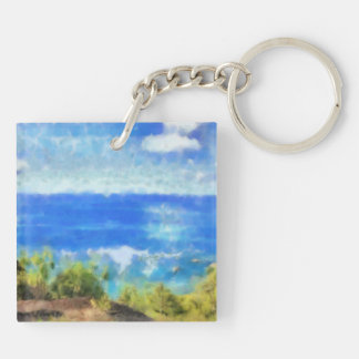 The ocean view keychain