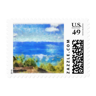 The ocean view postage