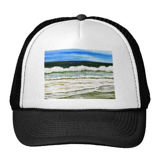 The Ocean's Elegance - Ocean Surf Beach Art Mesh Hats