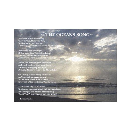 the oceans song poem canvas print zazzle com
