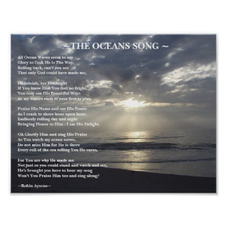 THE OCEANS SONG POEM POSTER