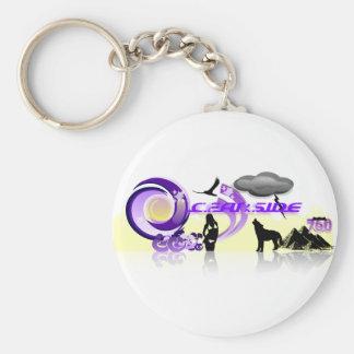 The Oceanside Basic Round Button Keychain