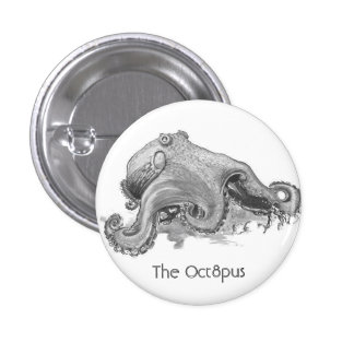 The Oct8pus - Tripod EP Cover Pinback Button