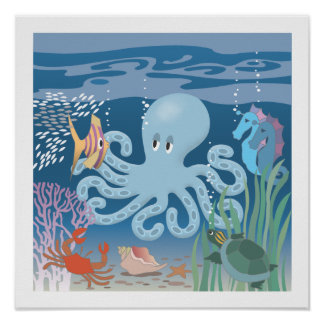 The Octopus Poster 15x15