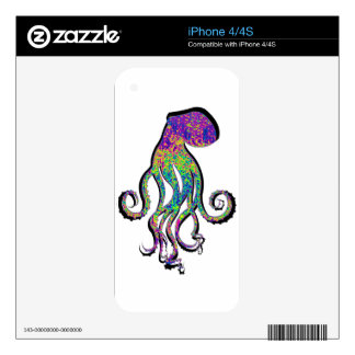 THE OCTOPUS WAVE DECALS FOR iPhone 4