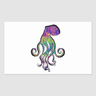 THE OCTOPUS WAVE RECTANGLE STICKER