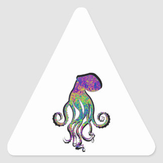 THE OCTOPUS WAVE TRIANGLE STICKER