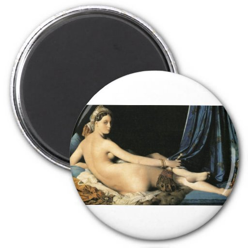 The Odalisque 2 Inch Round Magnet