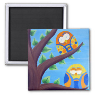 The Odd Couple 2 Inch Square Magnet