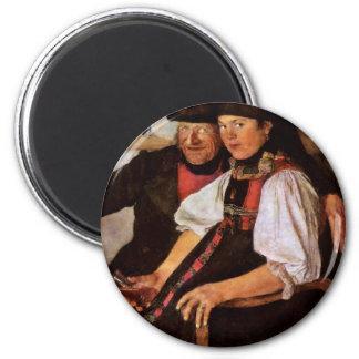 The Odd Couple By Leibl Wilhelm (Best Quality) Fridge Magnet