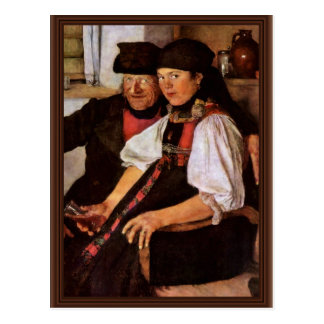 The Odd Couple By Leibl Wilhelm (Best Quality) Post Cards