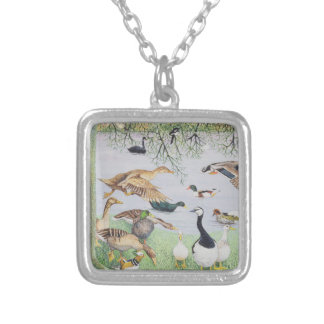 The Odd Duck Silver Plated Necklace