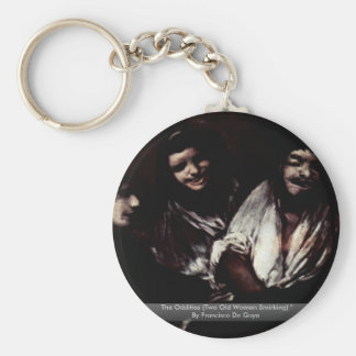 The Oddities Two Old Women Smirking Keychains