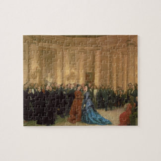 The Odeon Theatre, Paris, 1869 (oil on canvas) Jigsaw Puzzle