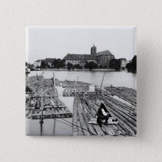 The Oder at Breslau  Poland, c.1910 Pinback Button