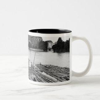 The Oder at Breslau  Poland, c.1910 Two-Tone Coffee Mug