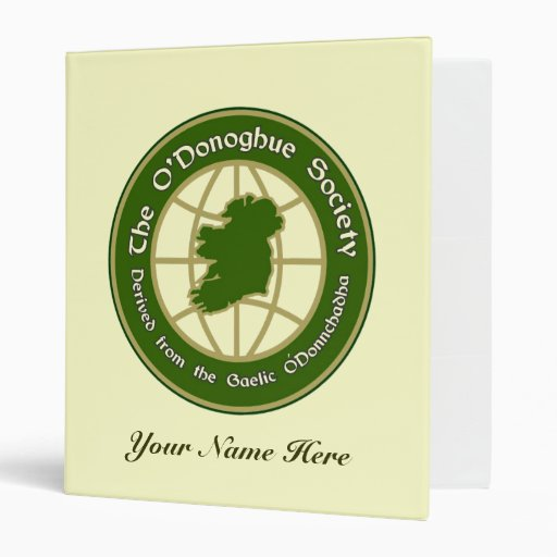The O'Donoghue Society Vinyl Binders
