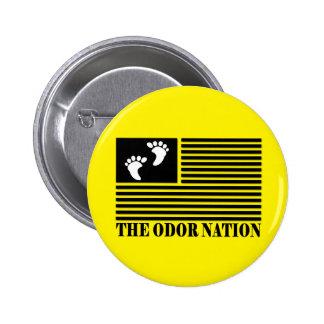The Odor Nation Round Button