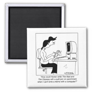 The Odyssey Written On A Computer 2 Inch Square Magnet
