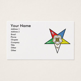 Fraternal business cards templates zazzle the oes card reheart Image collections