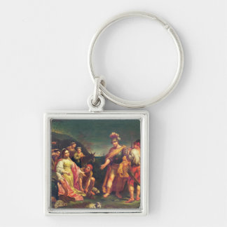 The Offering of Abigail before David Keychain