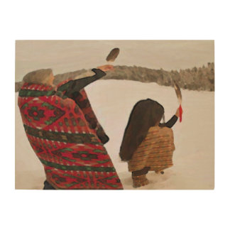 The Offering Wooden Wall Piece Wood Print