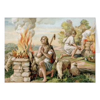 The Offerings of Cain and Abel Greeting Card