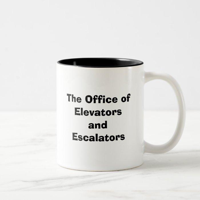 The Office of Elevators and Escalators Two-Tone Coffee Mug