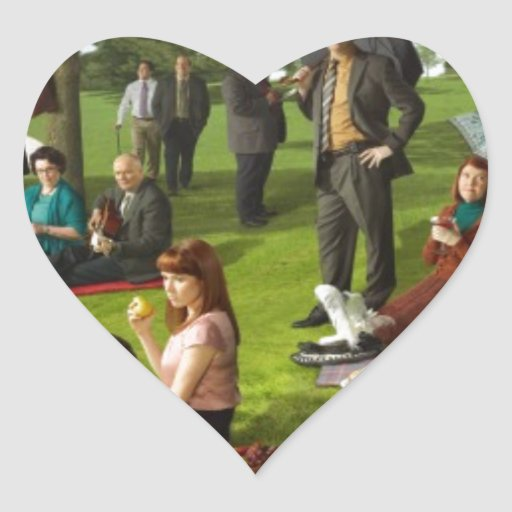 The Office Poster Heart Sticker