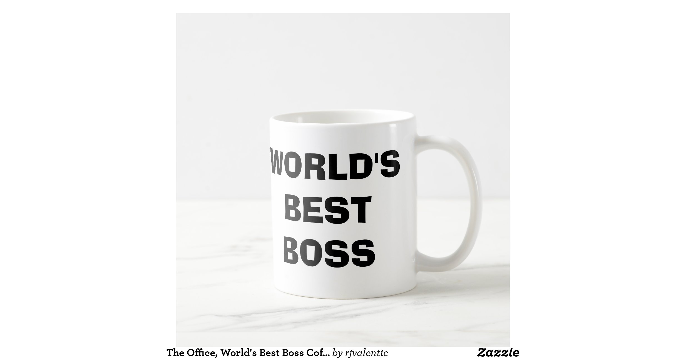 The Office Worlds Best Boss Coffee Mug