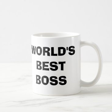 Coffee Themed The Office, World's Best Boss Coffee Mug