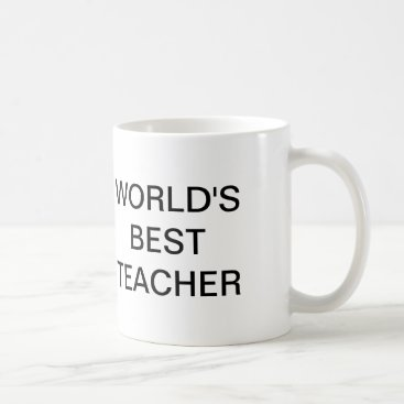 Coffee Themed The Office, World's Best Teacher Coffee Mug
