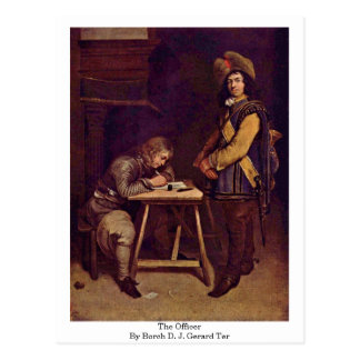 The Officer By Borch D. J. Gerard Ter Postcard