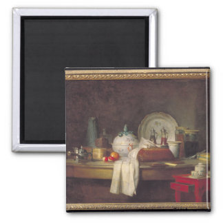 The Officers' Mess or The Remains of a Lunch 2 Inch Square Magnet