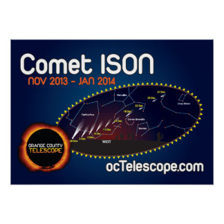 The Official Comet ISON Poster and Finder Chart