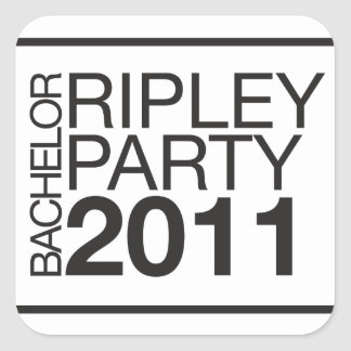 The Official Gear of RBP 2011 Square Sticker