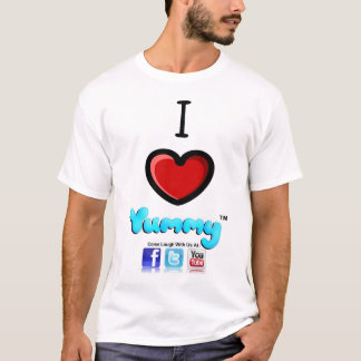 The Official I Heart Yummy T-shirt w social tags
