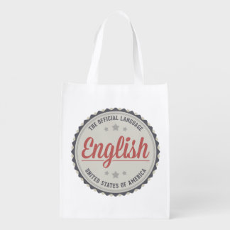 The Official Language Grocery Bag