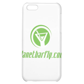 The official planetbarfly.com logo in green case for iPhone 5C