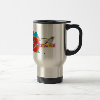 "The official ""Sparrow Holt"" travel mug! 15 Oz Stainless Steel Travel Mug"