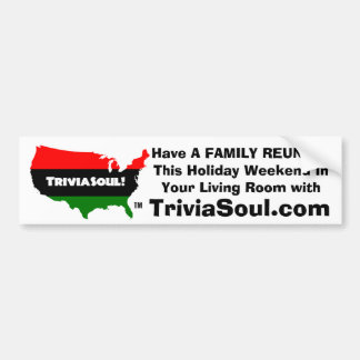 The Official Trivia Soul Bumper Sticker