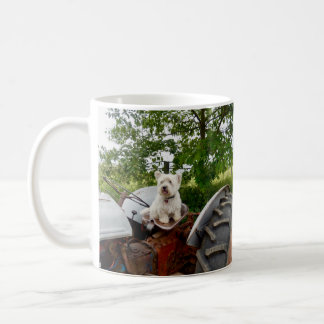 The Official Westie on a Tractor Coffee Mug
