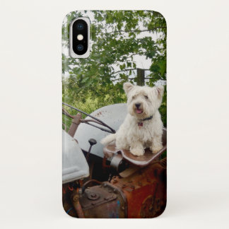 The Official Westie on a Tractor phone case