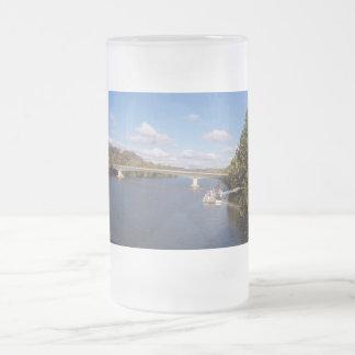 The Ohio Bridge Frosted Glass Beer Mug