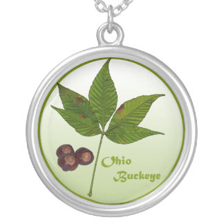 The Ohio Buckeye Silver Plated Necklace