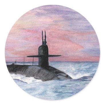 The Ohio Class Submarine Classic Round Sticker